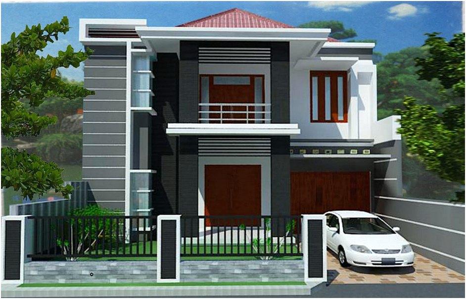 Model Rumah Minimalis 2 Lantai Modern Sederhana Unik Terbaru