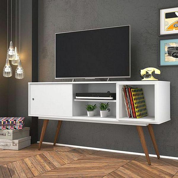Rak Tv Minimalis Unik Warna Putih Terbaru