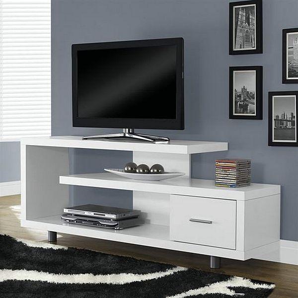 Rak Tv Minimalis Unik Warna Putih