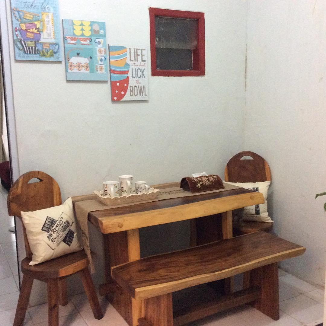 Ruang Makan Minimalis Sederhana Kayu Jati Terbaru 2019