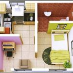 Sketsa Denah Rumah Minimalis 1 Kamar Tidur