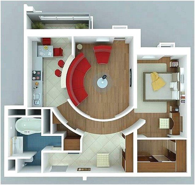 Sketsa Denah Rumah Sederhana 1 Kamar Tidur