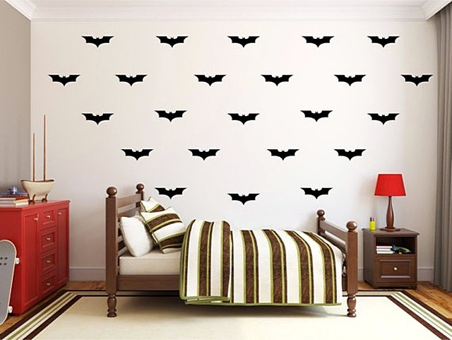 Wallpaper Sticker Dinding Kamar Motif Batman