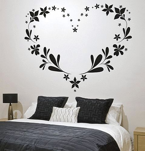 Wallpaper Sticker Dinding Kamar Motif Love