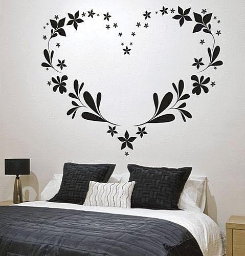 Wallpaper Sticker Dinding Kamar Motif Love