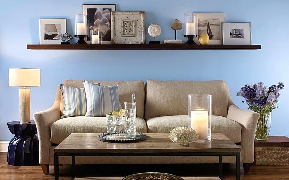 Warna Cat Ruang Tamu Minimalis Terbaru Biru