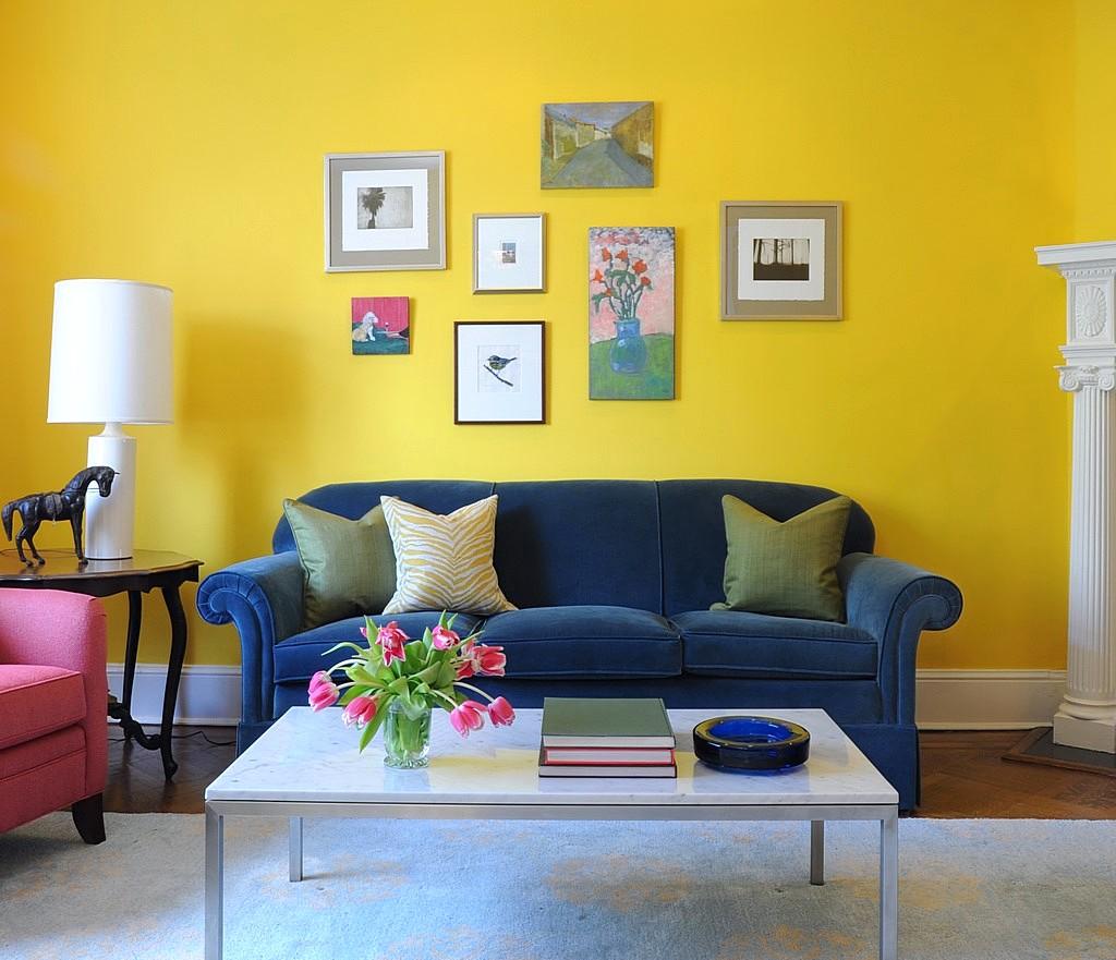 Warna Cat Ruang Tamu Yang Bagus Kuning