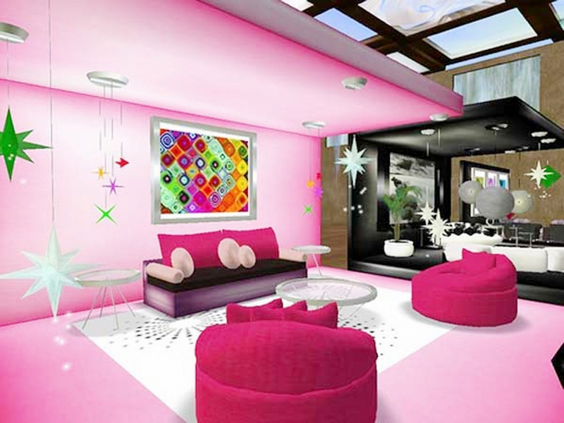 Warna Cat Ruang Tamu Yang Cantik Pink