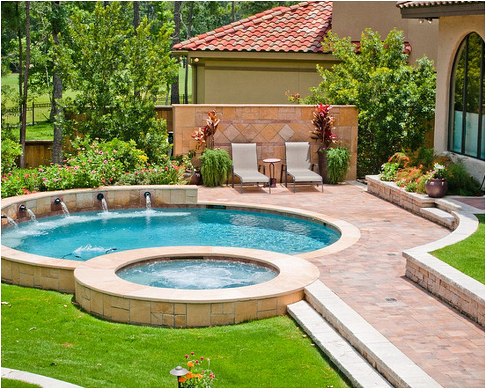 desain kolam renang dan taman