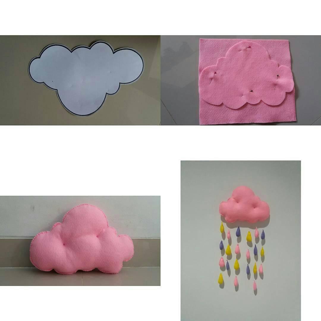 Cara Membuat Hiasan Bantal Awan Dan Hujan
