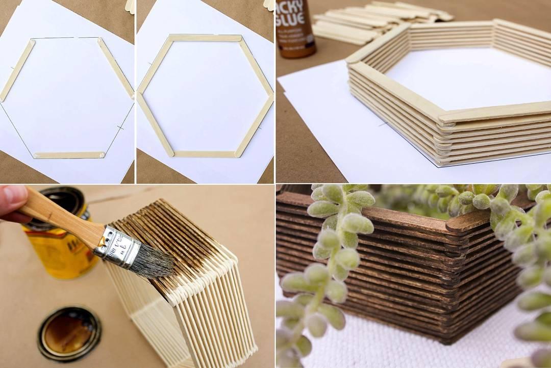 Cara membuat hiasan dinding buatan sendiri mini hexagonal for Buat kitchen set sendiri