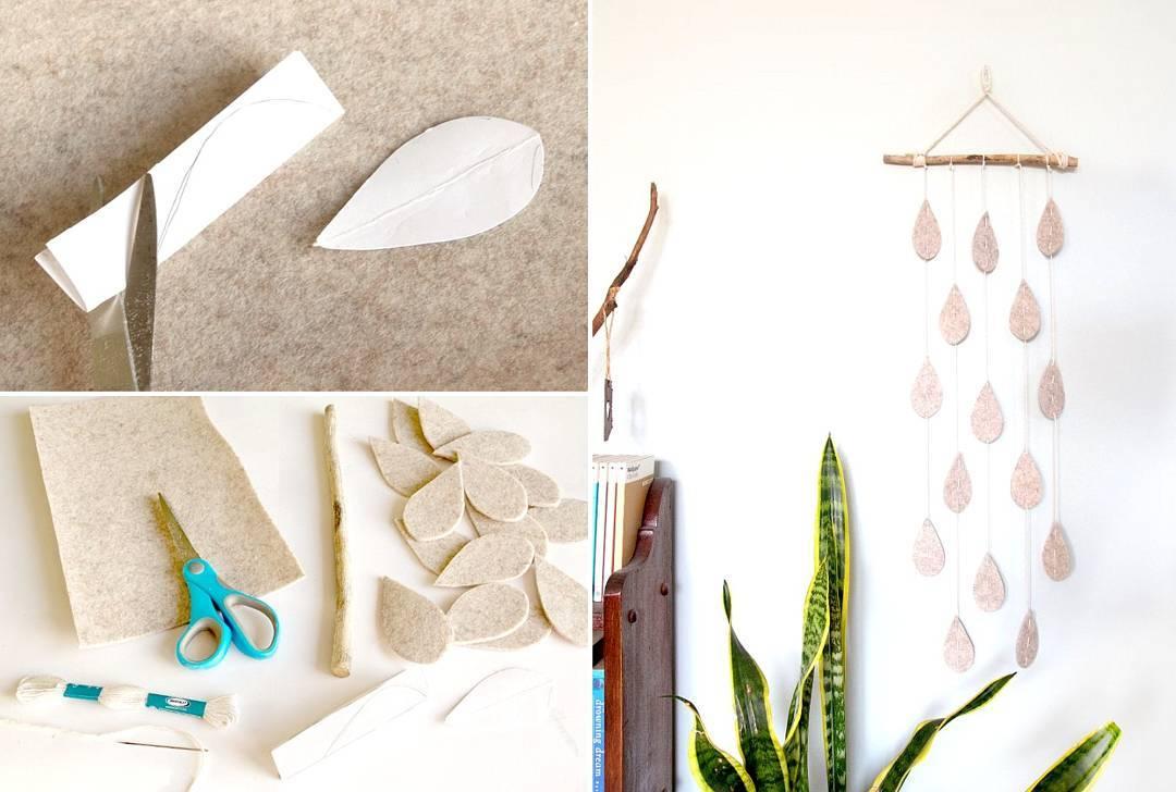 Cara Membuat Hiasan Dinding Gantung Cantik Raindrop Dari Flannel