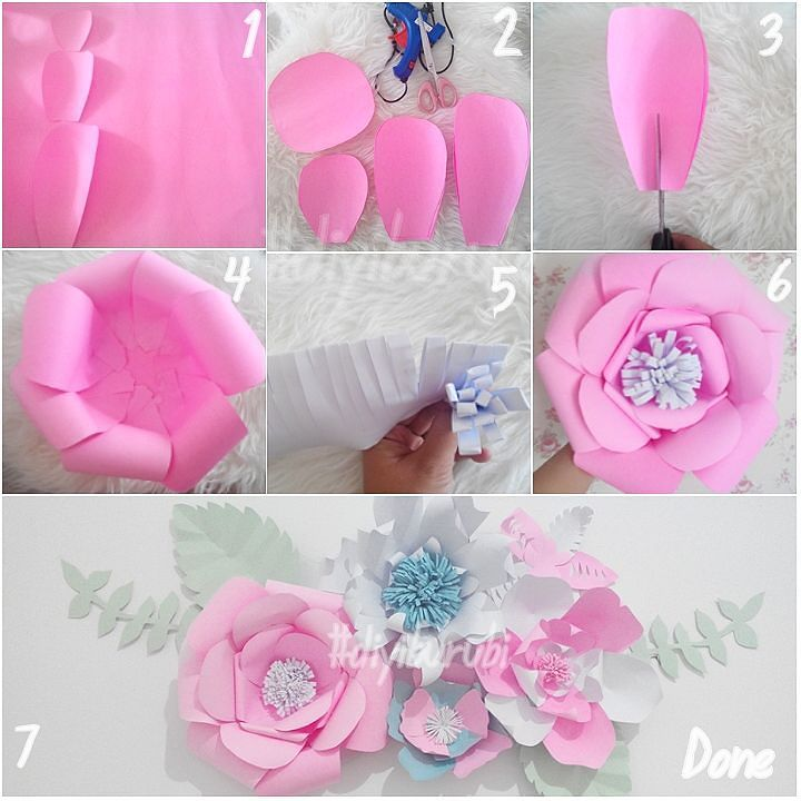 Cara Membuat Hiasan Dinding Kamar Buatan Sendiri Berbentuk Bunga Dari Kertas Karton