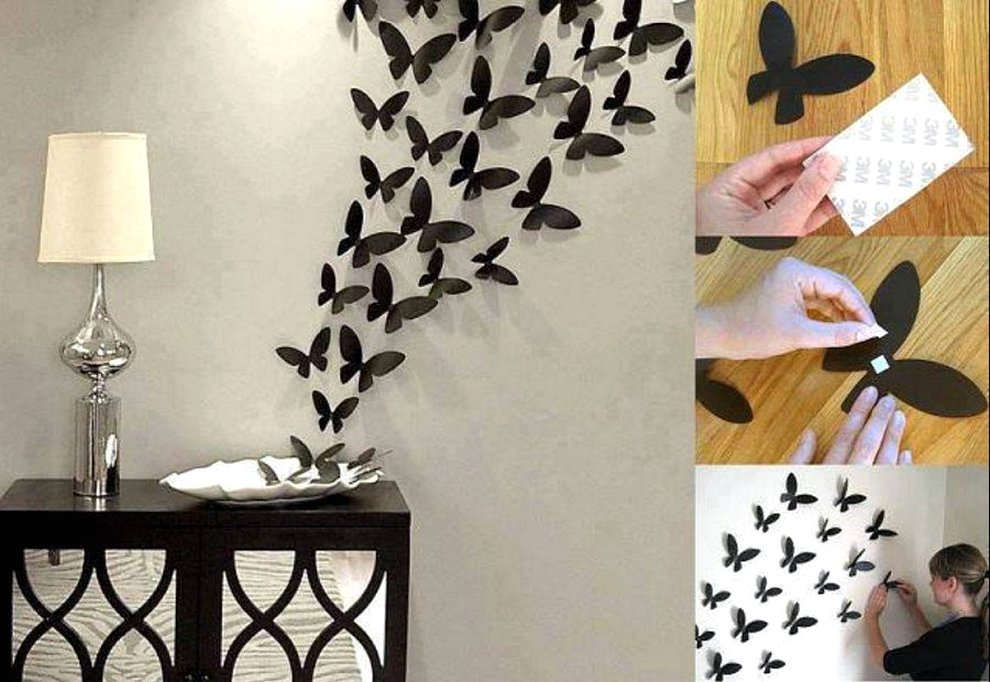 Cara Membuat Hiasan Dinding R Kost Buatan Sendiri Dari Kertas Origami Berbentuk Kupu