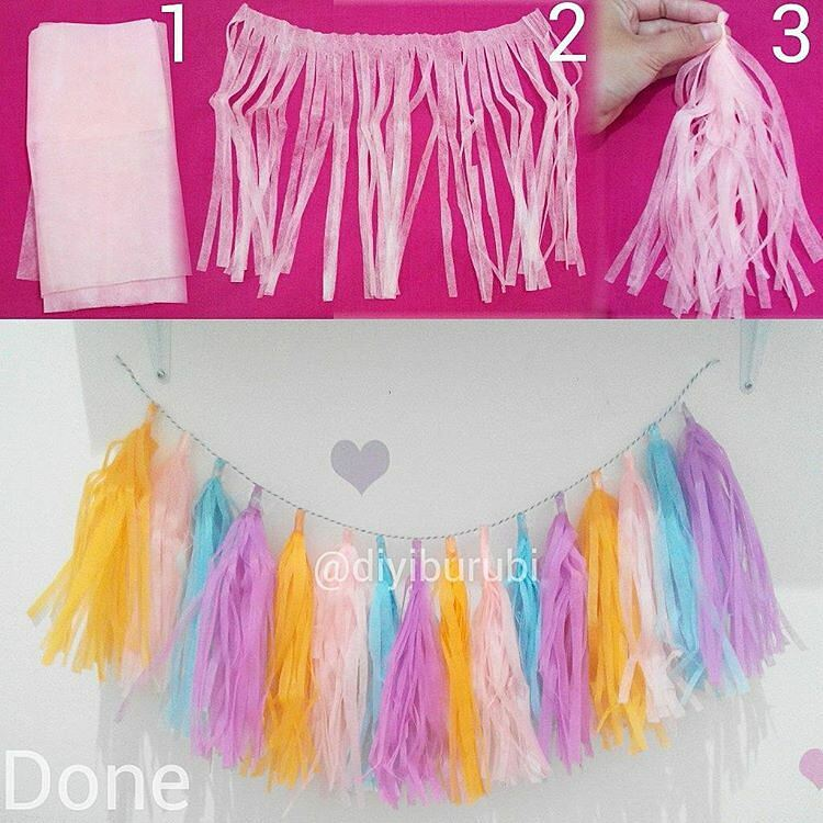 Cara Membuat Hiasan Dinding Colorful Tassel Wall Art