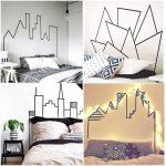DIY Hiasan Dinding Kamar Tidur Dari Selotip Lagi Ngetren