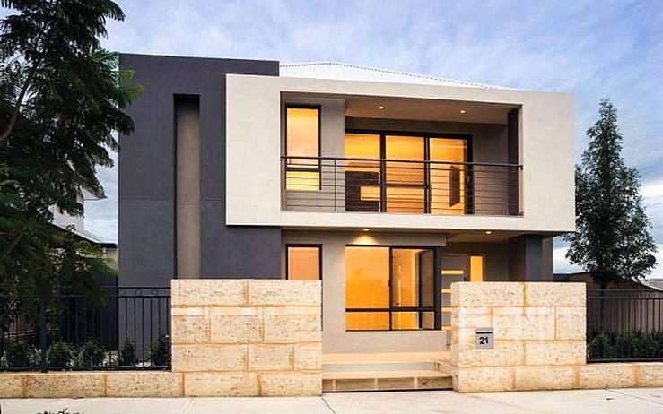 44 Gambar Rumah Minimalis 2 Lantai Modern Elegan HD Terbaru