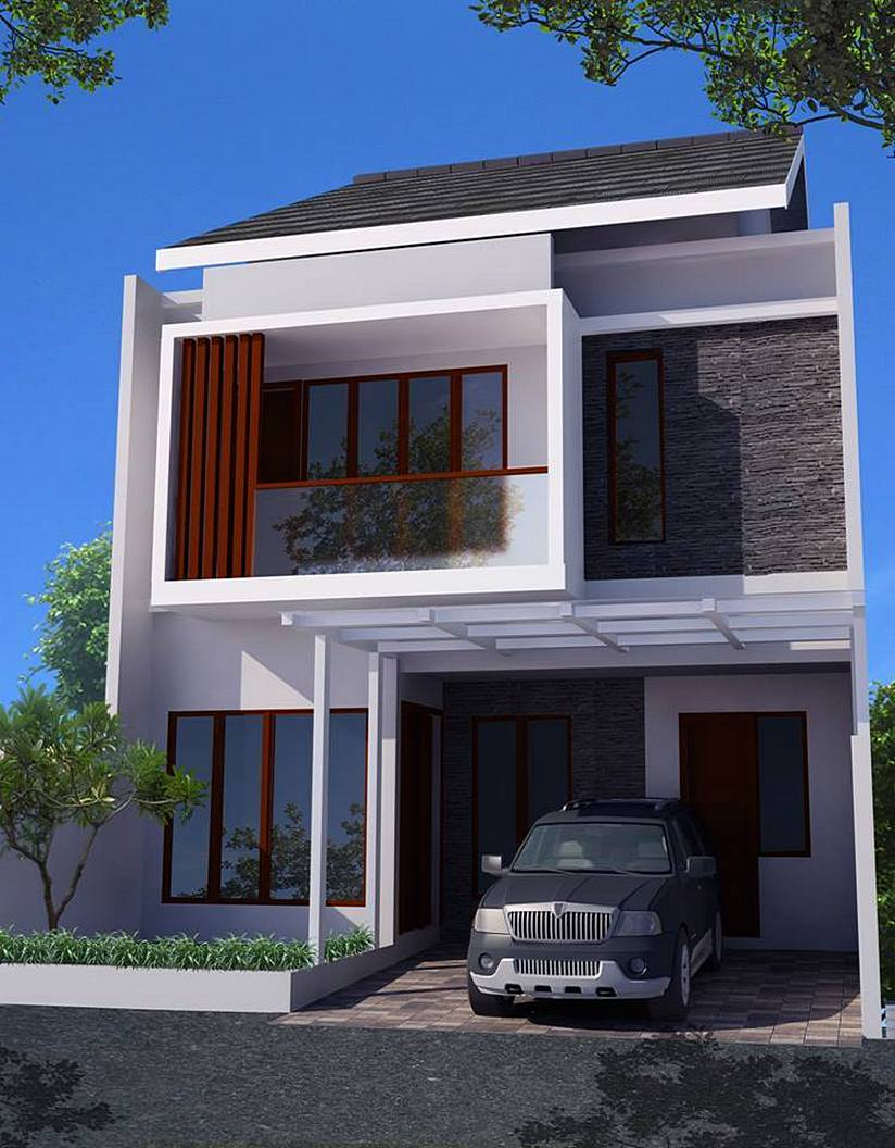 36 Desain Rumah Minimalis  2 Lantai Sederhana  2019 Dekor