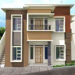 Gambar Rumah Minimalis 2 Lantai Warna Cokelat