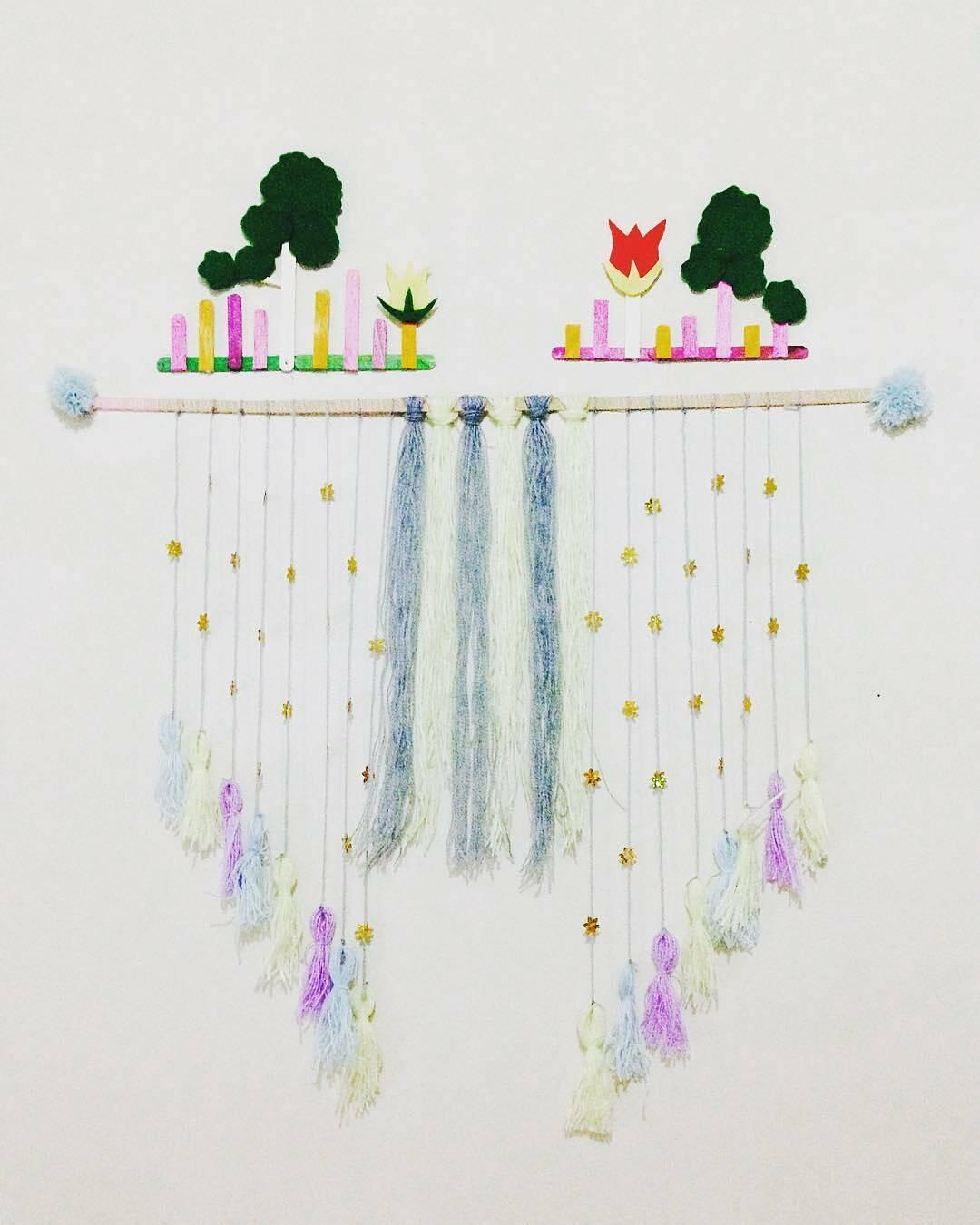 Hiasan Dinding Tassel Hanging Wall Art