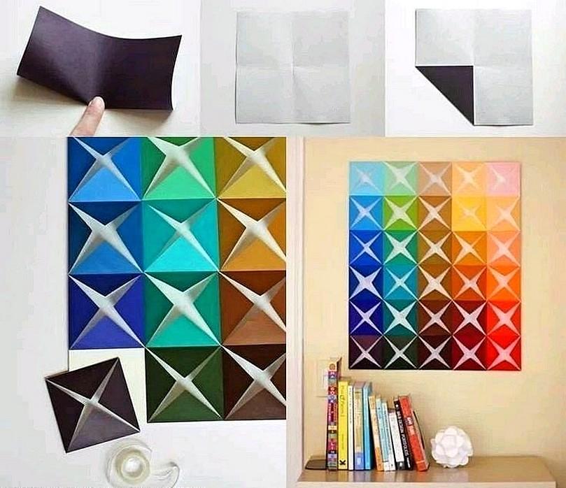Ide Cara Membuat Hiasan Dinding R Dari Kertas Origami