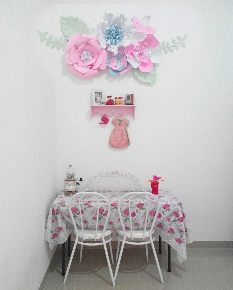 Ide Hiasan Dinding Ruang Makan Berbentuk Bunga Dari Kertas Karton
