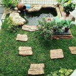 Kolam Ikan Koi Minimalis Untuk Taman Depan Rumah Unik