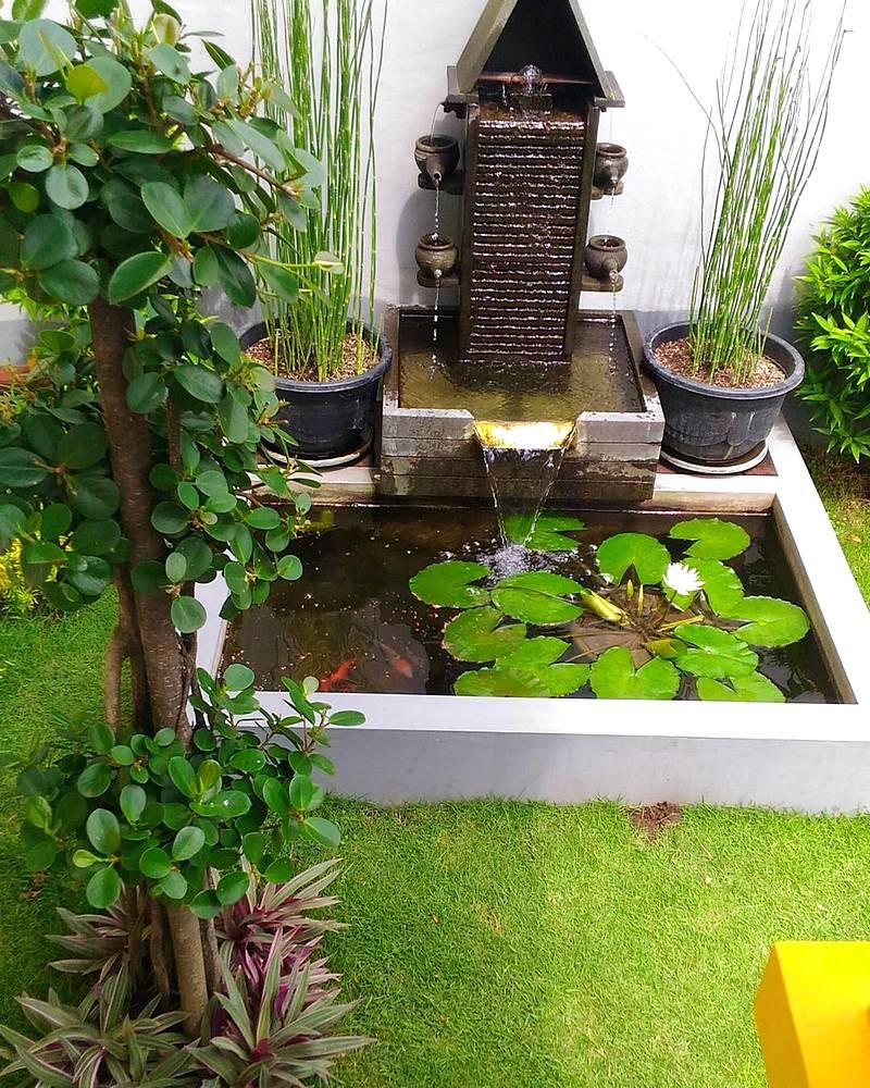 33 desain kolam ikan minimalis di lahan sempit terbaru for Garden pond design malaysia