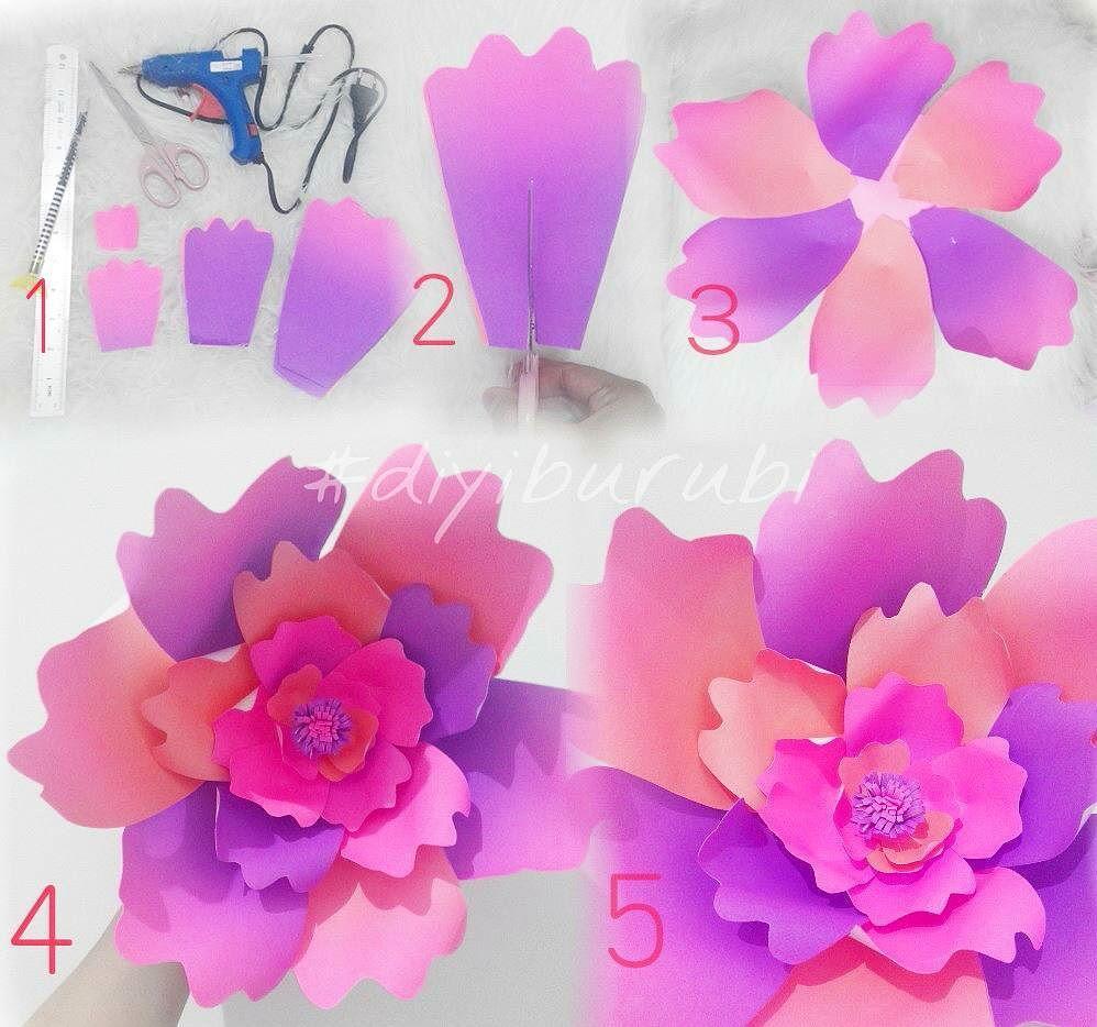 Kreatifcara Membuat Hiasan Dinding Berbentuk Bunga Dari Kertas Karton Unik