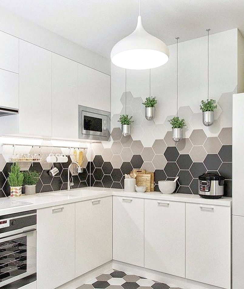 Kitchen Set Ukuran 1 Meter: 31 Model Keramik Dinding Dapur Minimalis Terbaru 2018