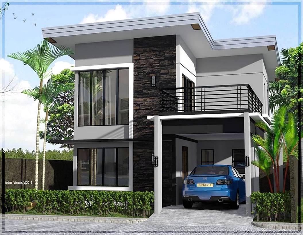 Model Rumah Minimalis 2 Lantai Tampak Depan Idaman