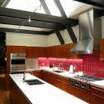 Motif Keramik Dapur Warna Merah Perpaduan Lantai Dapur Cokelat Terbaru