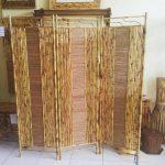 Partisi Ruangan Bambu Vintage