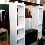 Pembatas Ruangan Tamu Minimalis Berbentuk Lemari Bufet