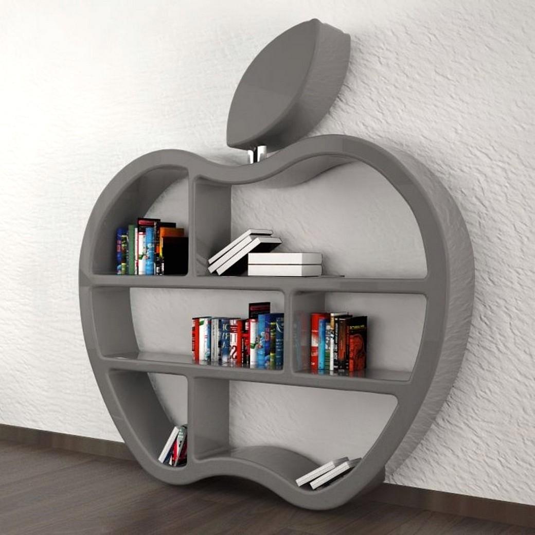 Rak Buku Unik Berbentuk Apple