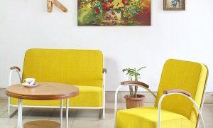 Ruang Tamu Minimalis Klasik Vintage