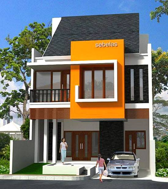 Home Design Ideas Construction: 36 Desain Rumah Minimalis 2 Lantai Sederhana 2018