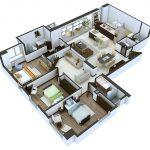 Denah Rumah Sederhana 3 Kamar Tidur Bisa Untuk Denah Rumah Mewah 3 Kamar Tidur 3d 3dimensi