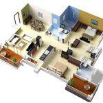 Denah Rumah Sederhana 3 Kamar Tidur Denah Rumah 3 Kamar Ukuran 7x9 3dimensi 3d