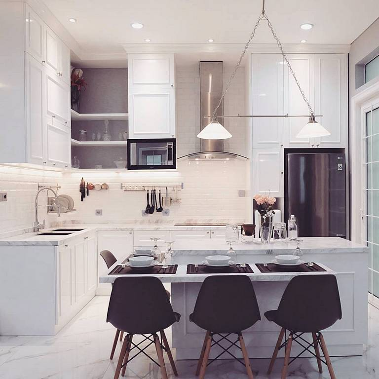 Desain Dapur Minimalis Modern Menyatu Dengan Ruang Makan