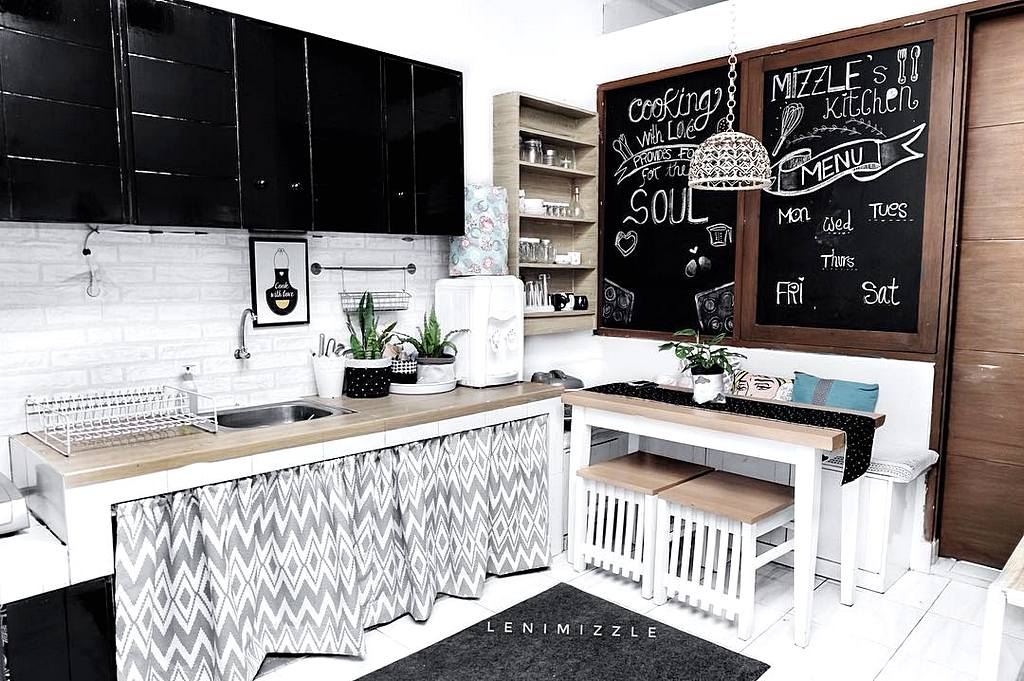 Dapur Black And White Desainrumahid