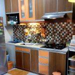 Desain Dapur Minimalis Ukuran Kecil Dengan Keramik Dinding Terbaru