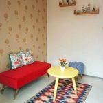 Desain Interior Ruang Tamu Minimalis Simple Meja Unik Ruang Tamu