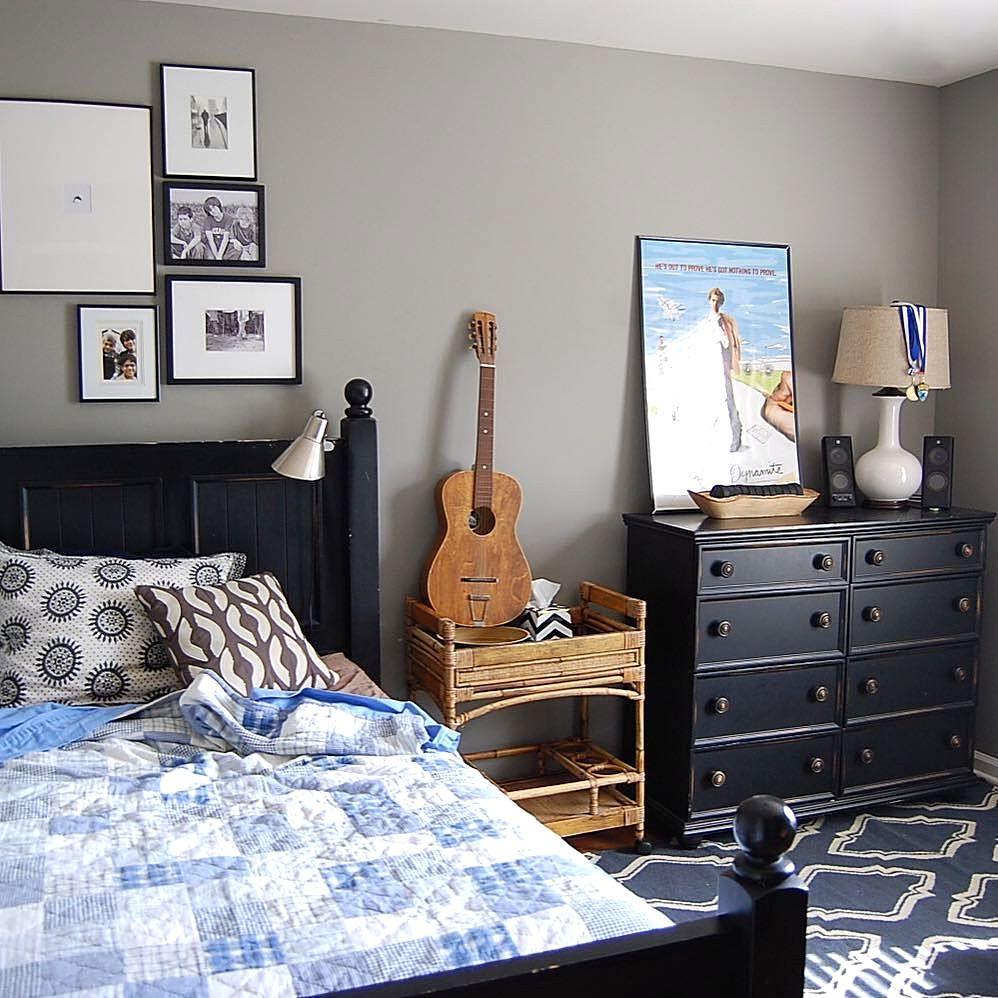 desain cat kamar tidur cowok sederhana | interior rumah