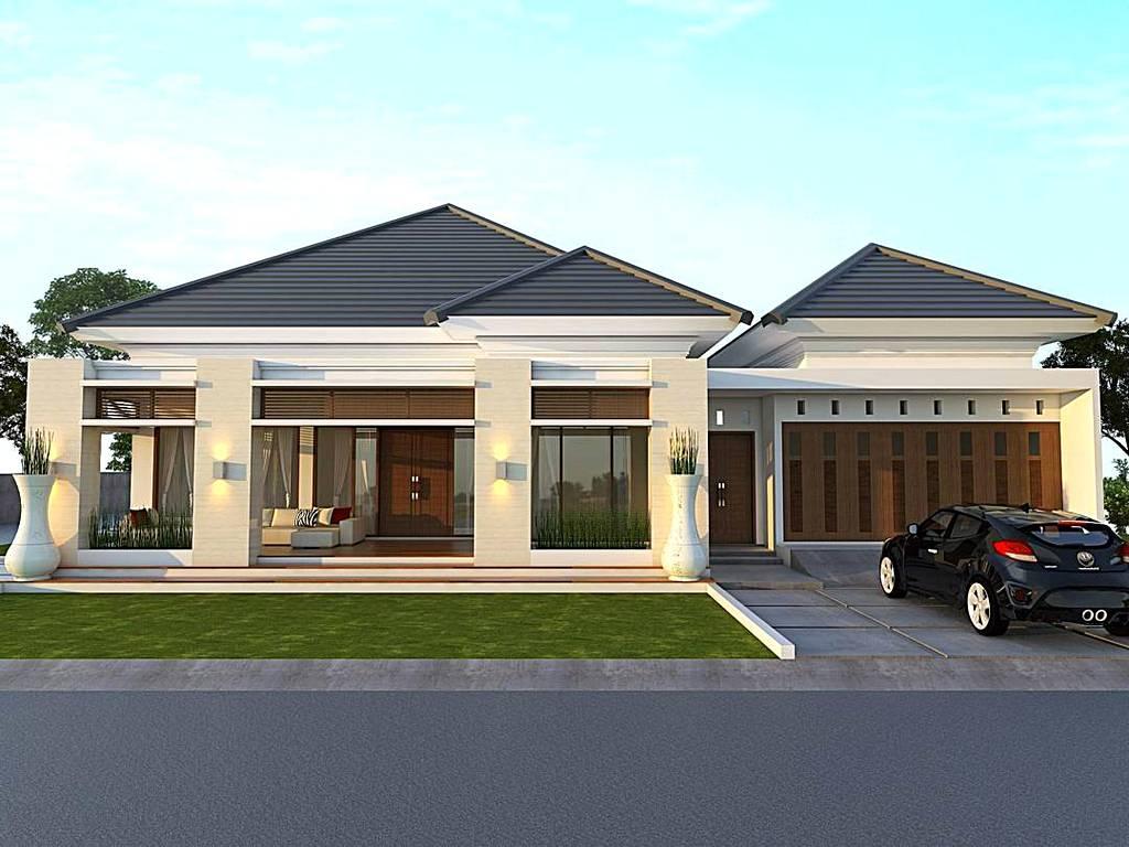 Desain Pagar Rumah Minimalis Modern  Gontoh