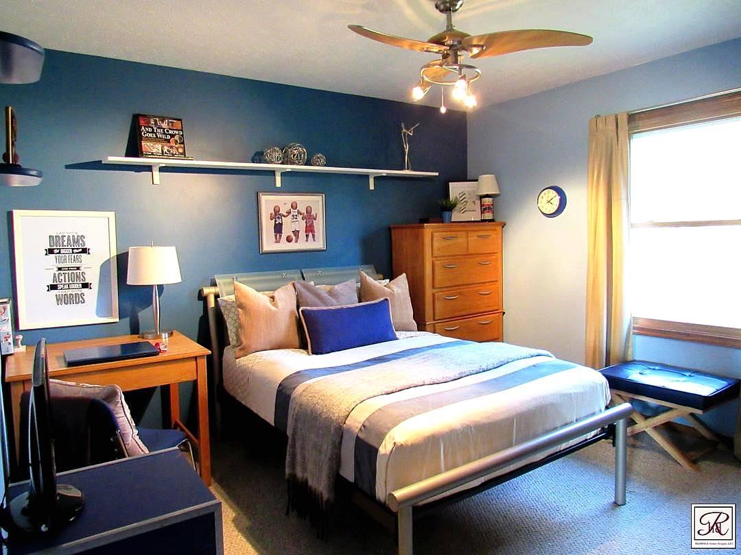 warna cat kamar tidur laki-laki sederhana | interior rumah