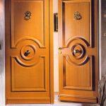 Gambar Model Pintu Utama Rumah Mewah Minimalis 2 Pintu Dari Kayu Jati