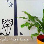 Hiasan Dinding Kamar Berbentuk Kucing Dari Selotip