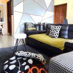 Interior Ruang Tamu Dengan Warna Cat Dan Sofa Minimalis