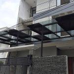 Kanopi Rumah Minimalis Baja Ringan Dengan Atap Kaca